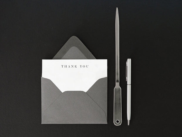 Ultra-Thick Flat Note Card in Thank You