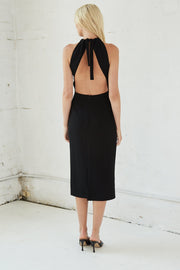 Tie Up Neck Midi