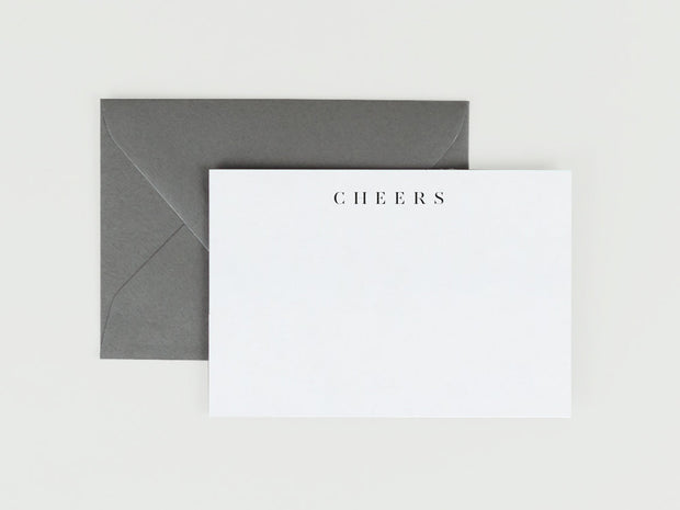 Ultra-Thick Flat Note Card in Cheers - The Edition Shop