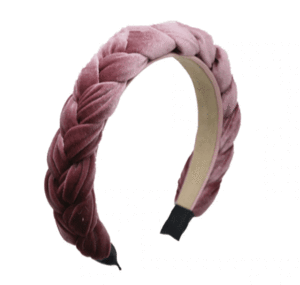 Braided Blush Velvet Headband
