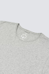 Premium Pima Beanstalk Crew - Heather Grey