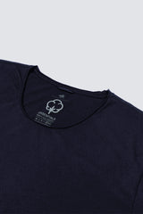 Distressed Premium Pima Crew Neck - Dark Midnight