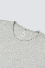 Distressed Premium Pima Crew Neck - Heather Grey