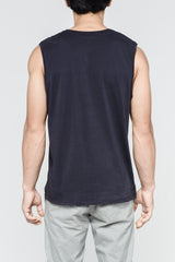 Premium Pima Muscle Tank - Dark Midnight
