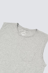 Premium Pima Muscle Tank - Heather Grey