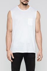 Premium Pima Muscle Tank 2.0 - White (Pre-Order End April Delivery)
