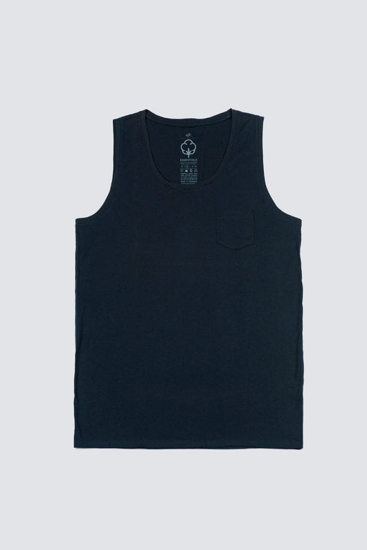 Premium Pima Singlet - Dark Midnight