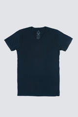 Premium Pima V-Neck - Dark Midnight
