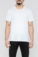 Premium Pima V-Neck - White