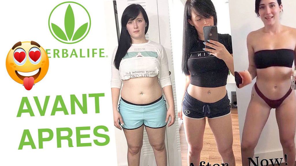 Before and after results for men and women with Herbalife products