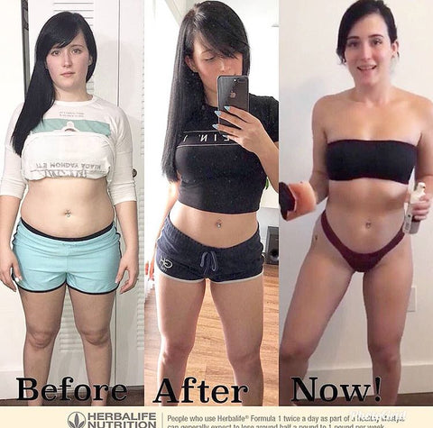 Before After Results of a Woman with Herbalife