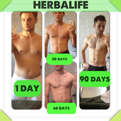 90 days before after with Herbalife
