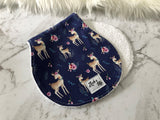 Navy Deer Burp Cloth