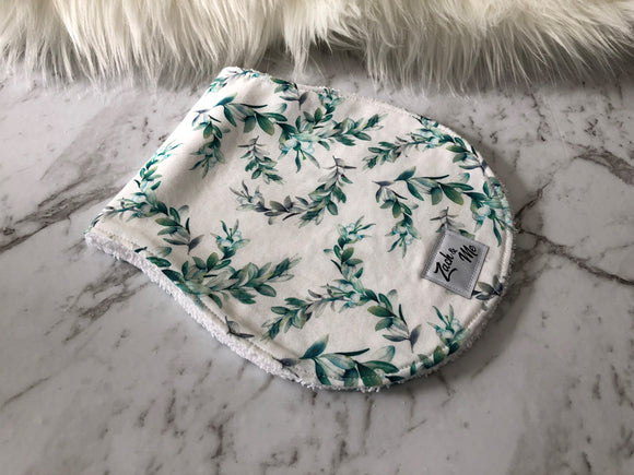 Watercolour leaf Burp Cloth