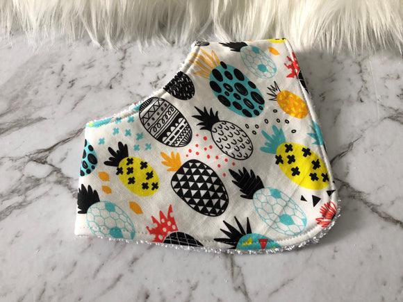 White Pineapple Dribble Bib