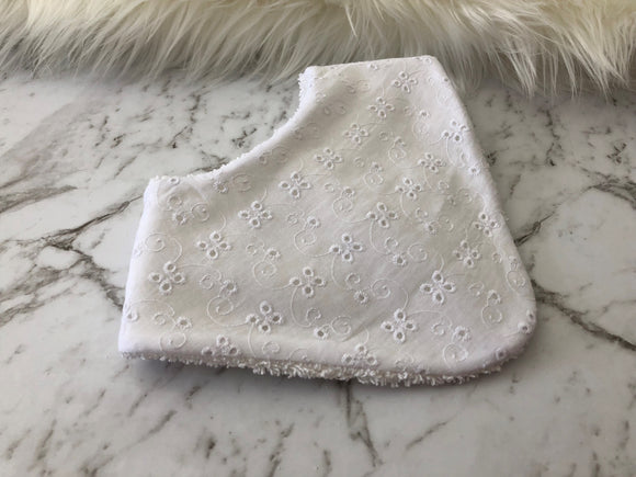 White Lace Dribble Bib