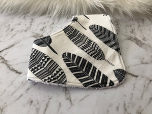 Grey Feather Dribble Bib