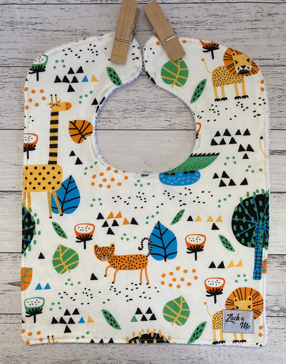 Colourful animals Feeding Bib