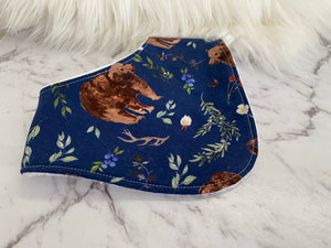 Navy bear Dribble Bib