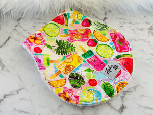 Colourful icypoles Burp Cloth