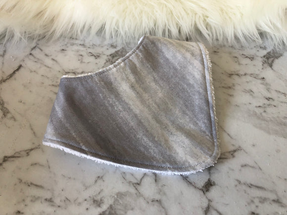 Grey wash Dribble Bib