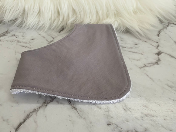 Solids- Light grey Dribble Bib