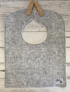 Grey Feeding Bib