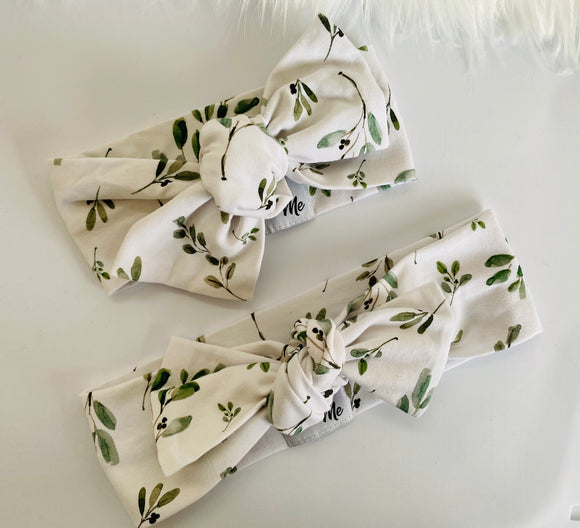 Leaf Top Knot Headband Mummy & Me set