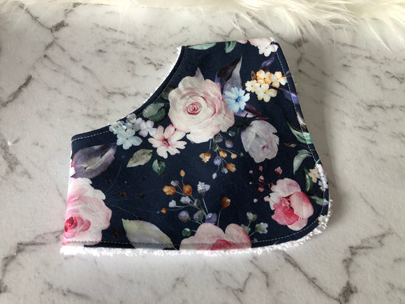 Blue floral Dribble Bib