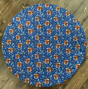 Navy bear Playmat