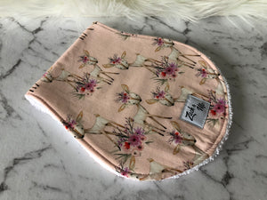 Pink deer Burp Cloth