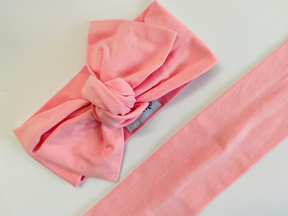 Baby pink Top Knot Headband