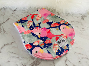Pink cockatoo Burp Cloth