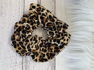 Large leopard scrunchie