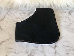 Solids- black Dribble Bib