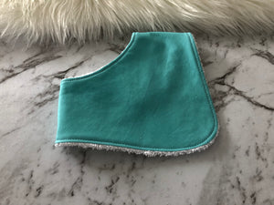 Solids- plain light blue  Dribble Bib