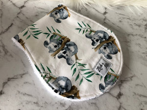 Koala bear with white background Burp Cloth