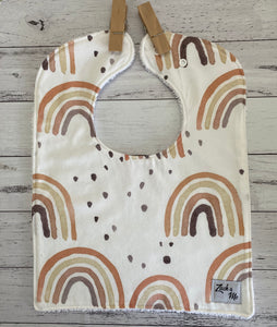 Neutral rainbow Feeding Bib