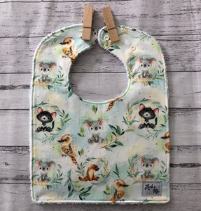 Aussie animals Feeding Bib