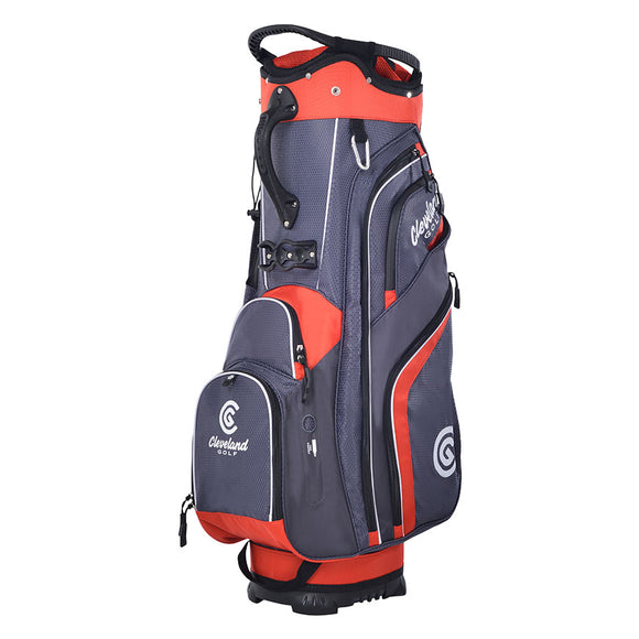 Cleveland Cart Bag - Charcoal/Red
