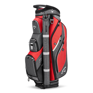 CALLAWAY FORRESTER CART BAG - Red/Titanium/Silver