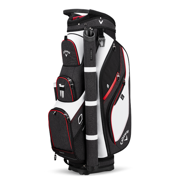 CALLAWAY FORRESTER CART BAG - White/Black/Red
