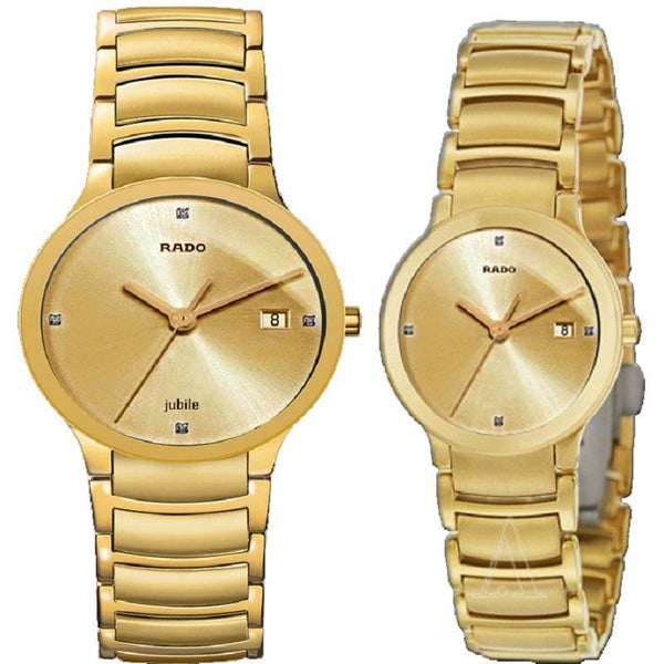 RADO CENTRIX FULL GOLD 8571 COUPLE