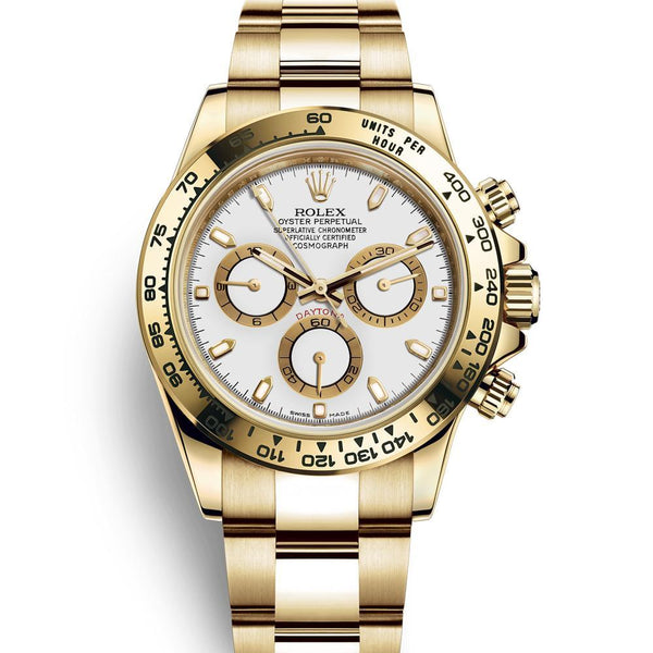 ROLEX FULL GOLD WITH WHITE DIAL
