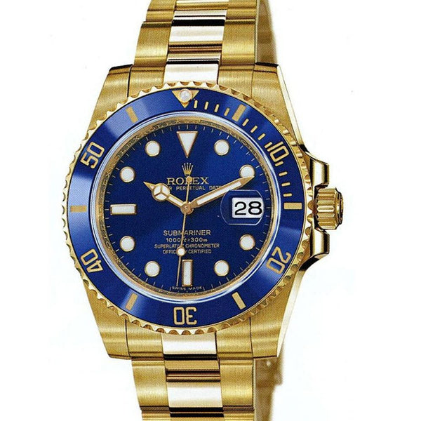 ROLEX SUBMARINER YELLOW GOLD BLUE DIAL 6643