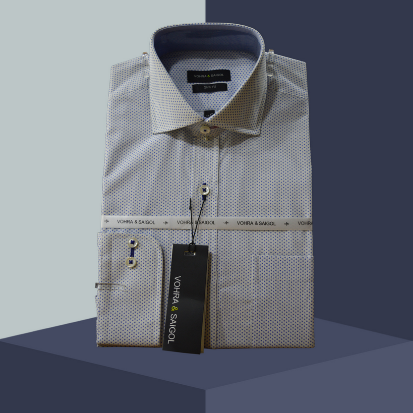 COTTON KING SHIRT 008-WHITE