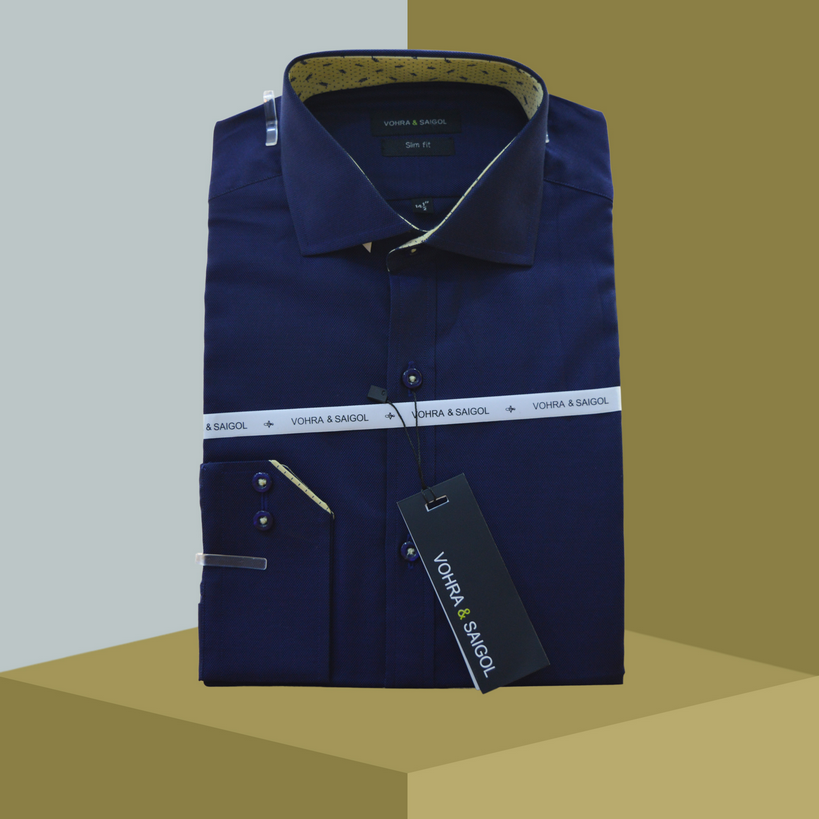 DELUX SHIRT 0011-DARK BLUE
