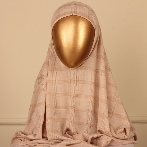 PERDA SCARF CHECK-LIGHT BROWN