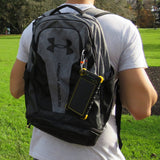 SunSaver Classic attached to backpack