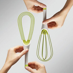 Joseph Joseph | Twist 2-in-1 Silicone Whisk | Green and White
